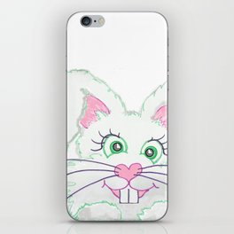 Funny Bunny Bed and Bath iPhone Skin