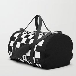 Chess Board Layout Duffle Bag