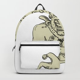 Crazy Court Jester Straitjacket Drawing Backpack