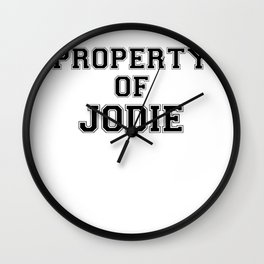 Property of JODIE Wall Clock