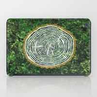 tree rings iPad Cases featuring Tree Rings by Zoë Miller