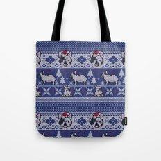 Christmas Frenchie Tote Bag