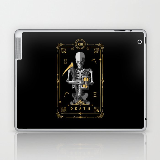 Death XIII Tarot Card Laptop & iPad Skin
