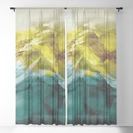 Abstract Mountain Sheer Curtain