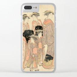 The Courtesans Maizumi Of The Daimonjiya Brothel Clear iPhone Case