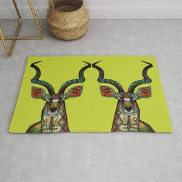 antelope chartreuse Rug