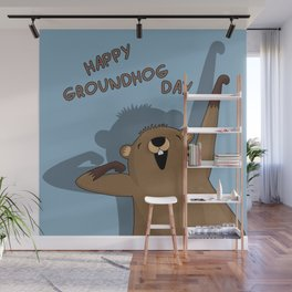 Groundhog day Wall Mural