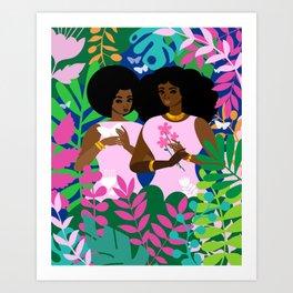 Blending Art Print