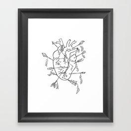 Arrows to the heart in B&W Framed Art Print