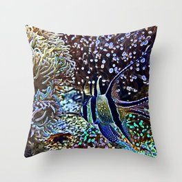 Reef and Fish Throw Pillow
