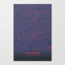 Wheaton, United States - Neon Canvas Print