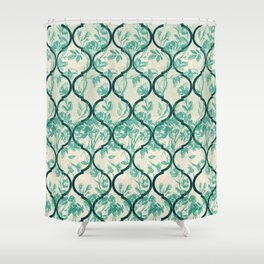 Vintage Garden Gate Ornament Shower Curtain