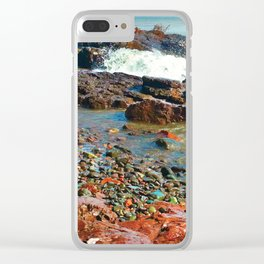 Rocky Shore 2 Clear iPhone Case