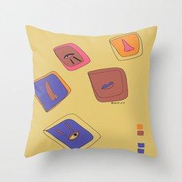 Pieces of Meces Throw Pillow