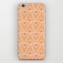 mala, african tribal pattern tangerine iPhone Skin