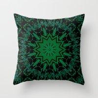 matrix Throw Pillows featuring The Matrix by Mr. Pattern Man