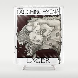 GMDs Laughing Hyena Lager Shower Curtain