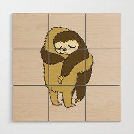 Sloth Hugs Wood Wall Art