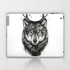 Deer wolf (b&w) Laptop & iPad Skin