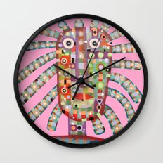 Girl with new hairstyle Wall Clock