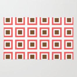 Chocolate Brown + Coral: Pattern No. 14B Rug