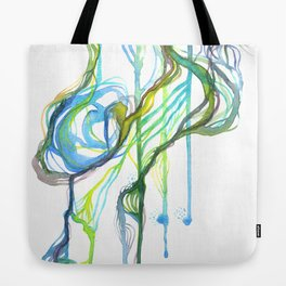 Aqua Trickle Tote Bag
