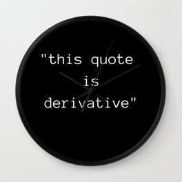 Derivative Wall Clock