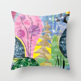 Fluttering Heart Throw Pillow