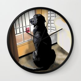 Ajax Watches the World Go By Wall Clock