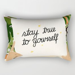 Stay True To Yourself II Rectangular Pillow