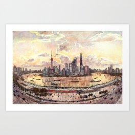 Shanghai Pudong Art Print