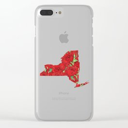 New York in Flowers Clear iPhone Case