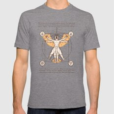 Vitruvian Aang MEDIUM Tri-Grey Mens Fitted Tee