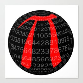 Pi Isolated Sphere Canvas Print