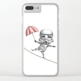 Ropedancing Stormtrooper Clear iPhone Case