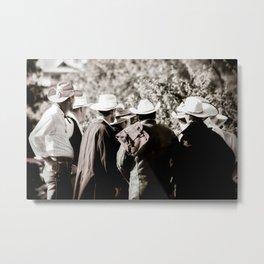Cowboy Bunch Metal Print