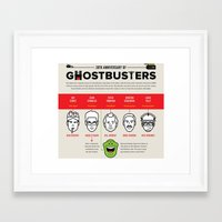 ghost busters Framed Art Prints featuring 30th Anniversary Ghost Busters by LUNCHMONEY973