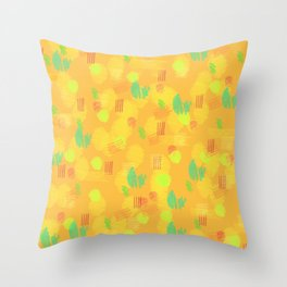 '90 Style Pastel Pattern Throw Pillow