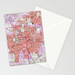 Vintage Map of Greensboro North Carolina (1951) Stationery Cards