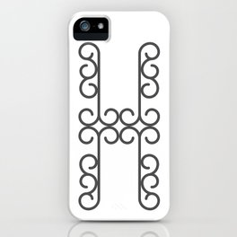 """Letter """"H"""" in beautiful design Fashion Modern Style iPhone Case"""