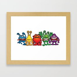 Alien Friends Framed Art Print