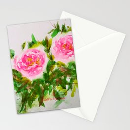 Loose watercolor roses Stationery Cards