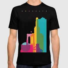 Shapes of Brooklyn. Accurate to scale Black MEDIUM Mens Fitted Tee