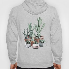 Potted Cacti + Succulents Rose Gold Hoody