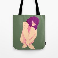 pinup Tote Bags featuring pinup by Scott Snowden