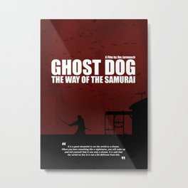 Ghost Dog - The Way of the Samurai. Minimal Movie Poster. A Film by Jim Jarmusch. Metal Print