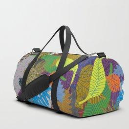 Rainbow Dancing Leaves Duffle Bag