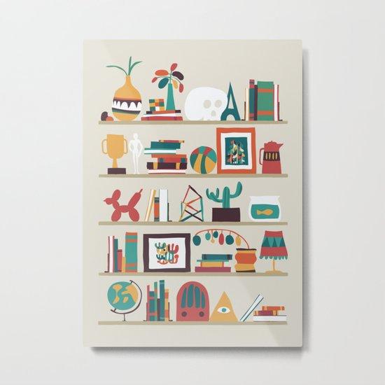 The shelf Metal Print