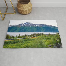 Alaska Passenger Train - Bird Point Rug