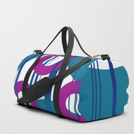 Three Rings pink with turquoise background Duffle Bag